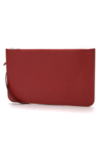 Louis Vuitton Epi Neverfull Pouch Wristlet Rubis Red