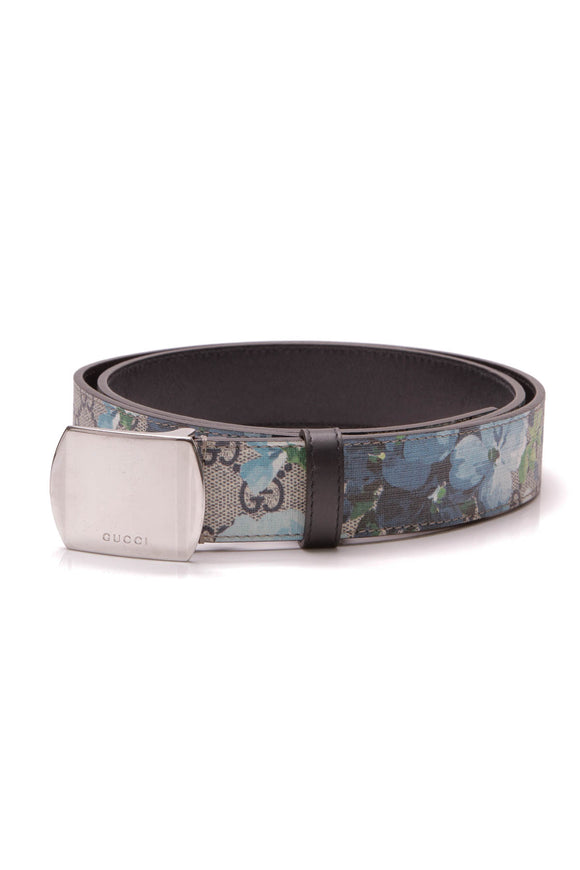 Gucci GG Blooms Belt Supreme Canvas Size 40 Blue
