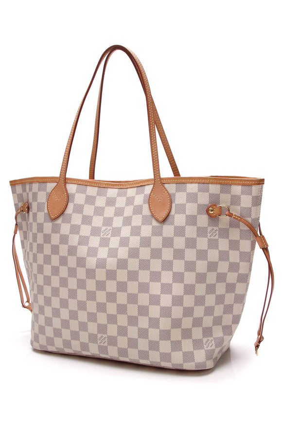 Louis Vuitton Neverfull MM Tote Bag Damier Azur