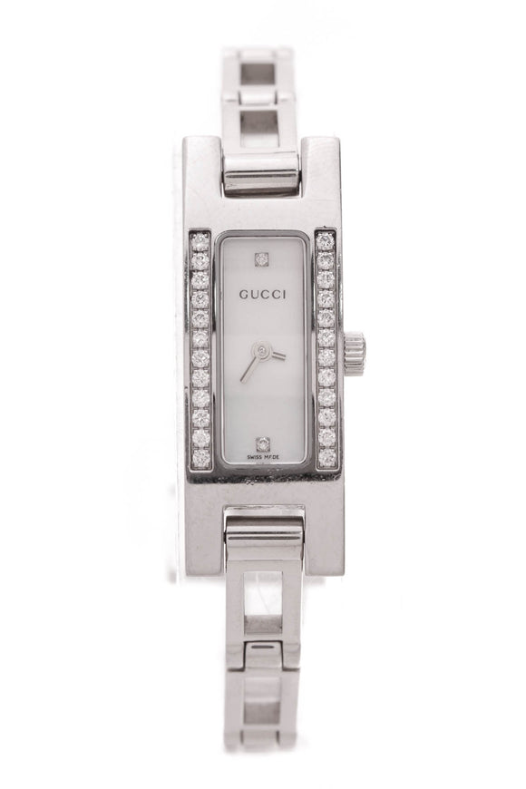 Gucci 3900 Series Diamond Watch Steel