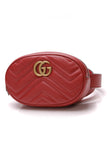 Gucci GG Marmont Small Belt Bag Matelasse Leather Red