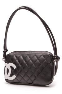 3919fde81f4420 Chanel Cambon Ligne Pochette Bag - Black Calfskin – Couture USA