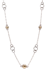 John Hardy Palu Long Station Necklace Gold Silver