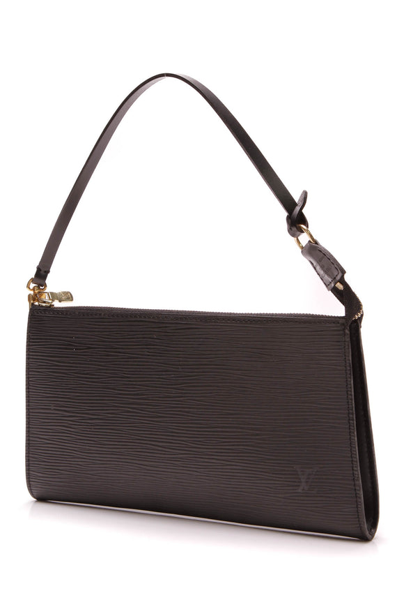 Louis Vuitton Epi Pochette Bag Black