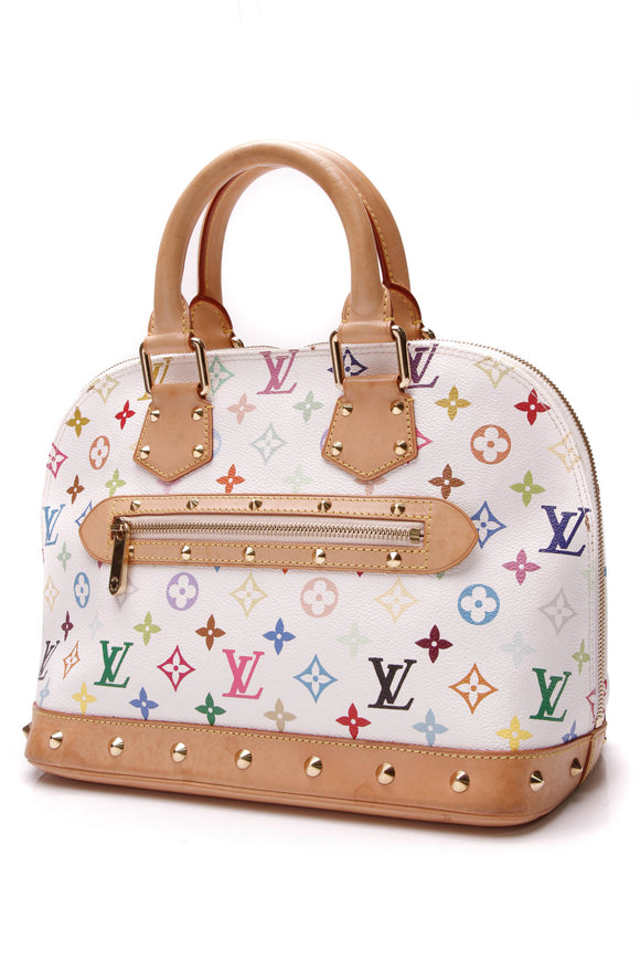 Louis Vuitton Alma PM Bag White Multicolore Monogram