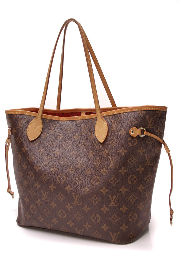 0f2a10c97aa7f4 Louis Vuitton Neverfull MM Tote Bag Monogram Canvas Brown