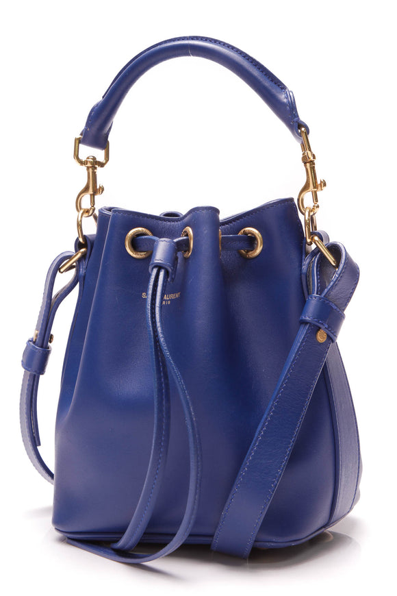 Saint Laurent Emmanuelle Small Bucket Bag Royal Blue