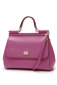 Dolce and Gabbana Sicily Medium Top Handle Bag Pink