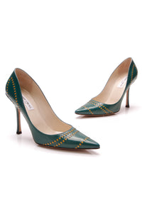 697e7faad Jimmy Choo Kitty Pumps - Emerald Kid Size 41 – Couture USA