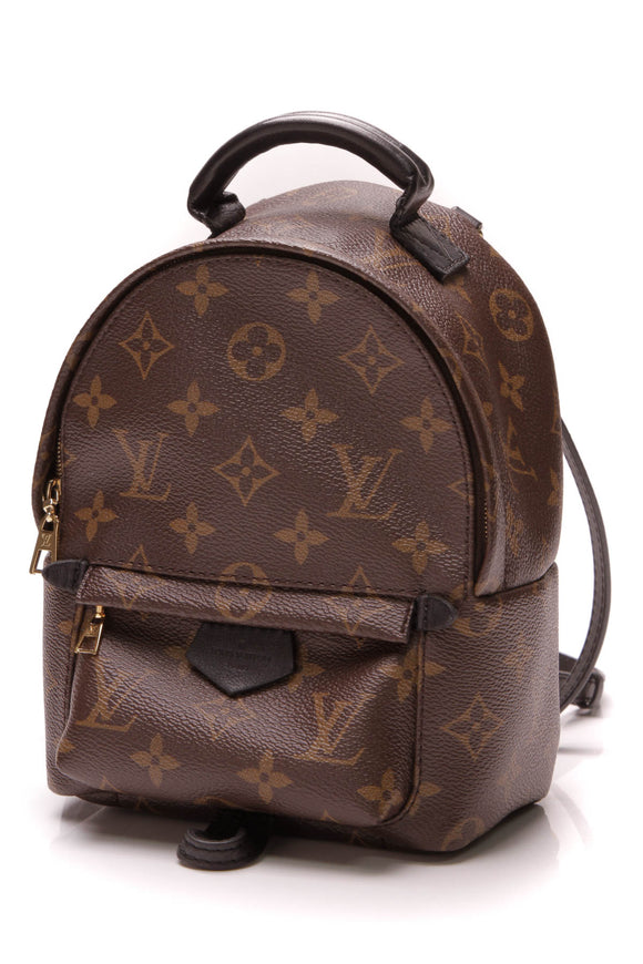 8f6560fad21 Louis Vuitton Palm Springs Mini Backpack Bag Monogram Brown Black