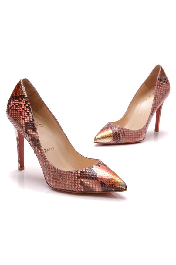 Christian Louboutin Pigalle 100 Python Pumps Pink Size 36