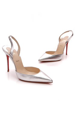 1b9f06d2bc Ever Slingback Pumps - Silver Size 38. Christian Louboutin