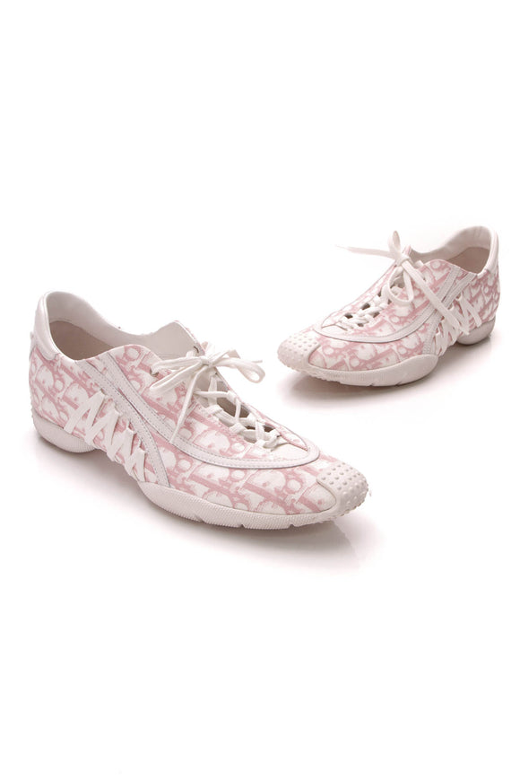 Christian Dior Diorissimo Sneakers White Pink Size 40