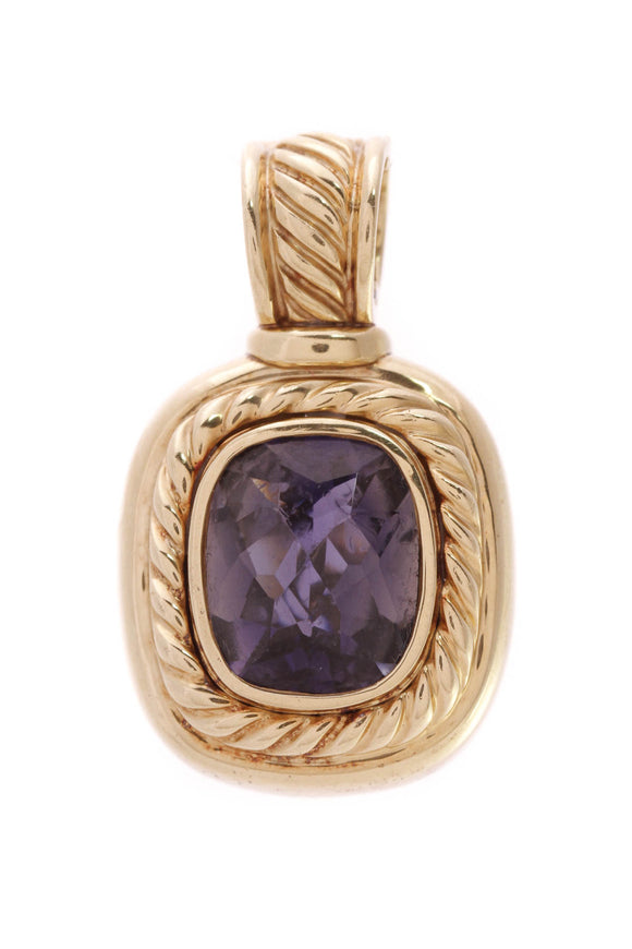David Yurman Iolite Albion Pendant Yellow Gold Purple