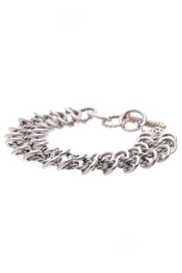 David Yurman Atlas Chainmail Toggle Bracelet Silver Gold