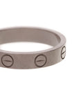 Cartier Love Band Ring White Gold Size 4.75
