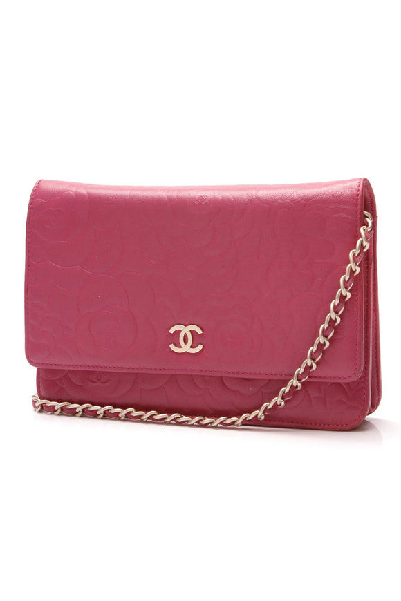 Chanel Camellia WOC Bag Pink Lambskin