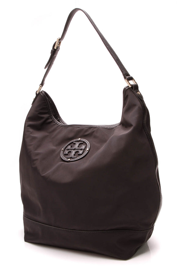 Tory Burch Hobo Bag Black Nylon