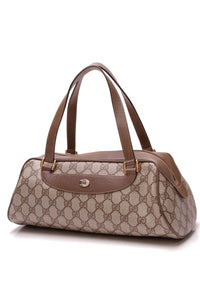 Gucci Vintage Papillon Bag Supreme Canvas Beige Brown