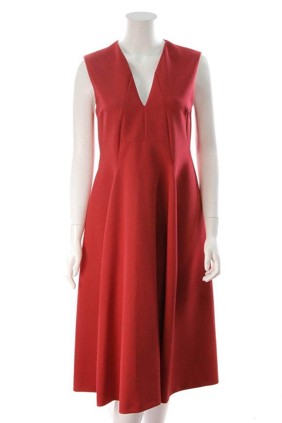 Jil Sander Sleeveless Dress Red Size 36