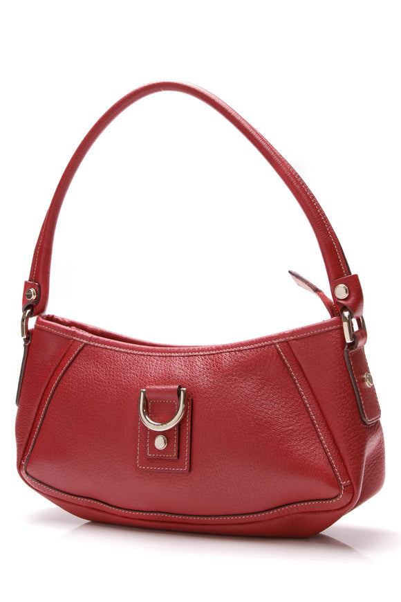 Gucci D Ring Abbey Pochette Bag Red