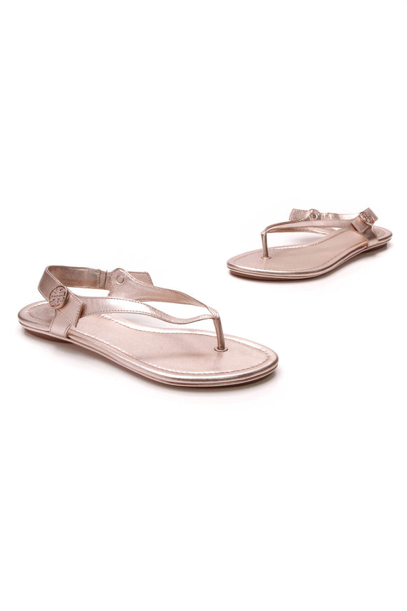Tory Burch Minnie Travel Thong Sandals Rose Size 7
