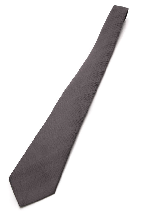 Louis Vuitton Party Monogram Silk Necktie Dark Gray