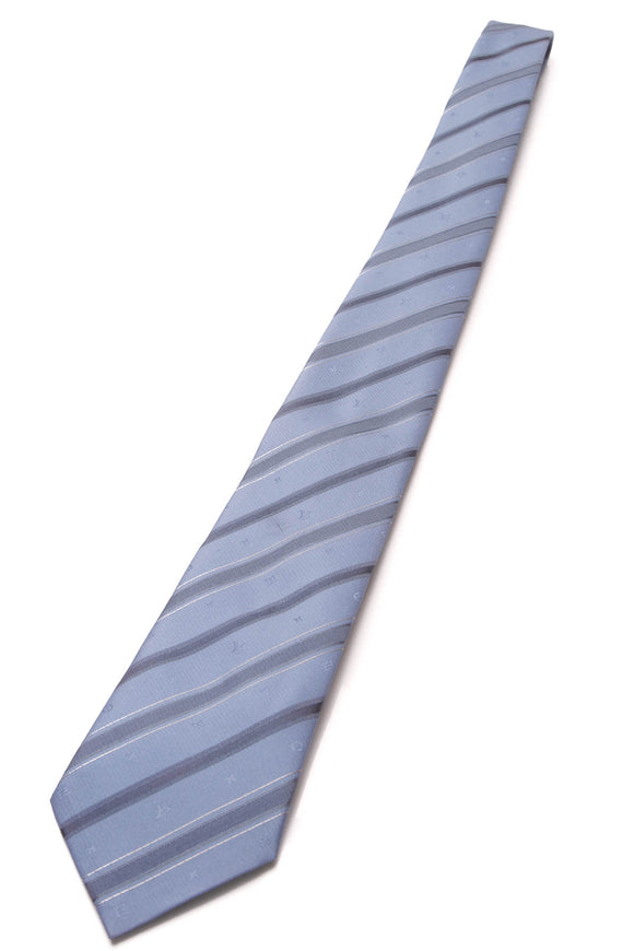 Louis Vuitton Monogram Silk Necktie Blue