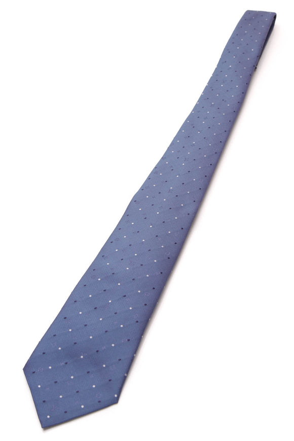 Louis Vuitton Monogram Polka Dot Silk Necktie Blue