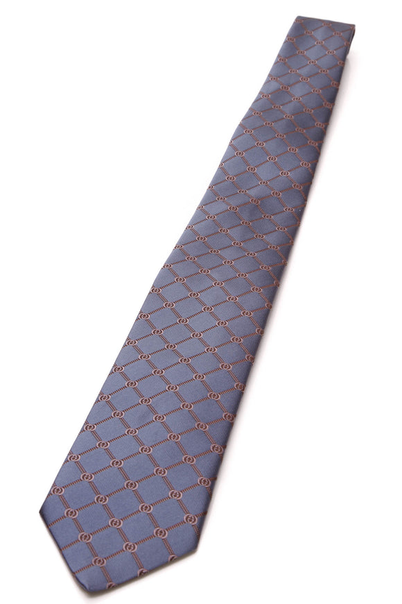 Gucci Interlocking G Silk Necktie Navy