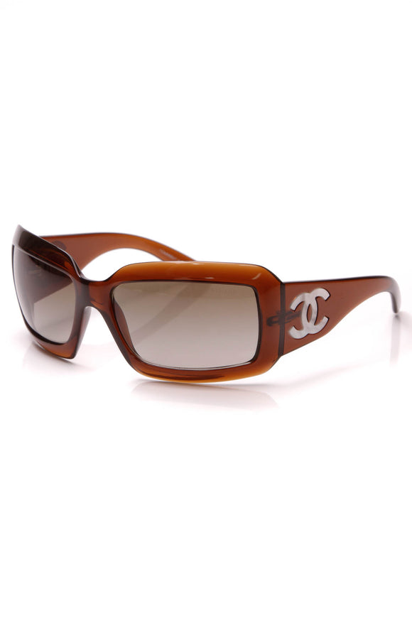 Chanel Mother of Pearl CC Sunglasses 5076-H Brown
