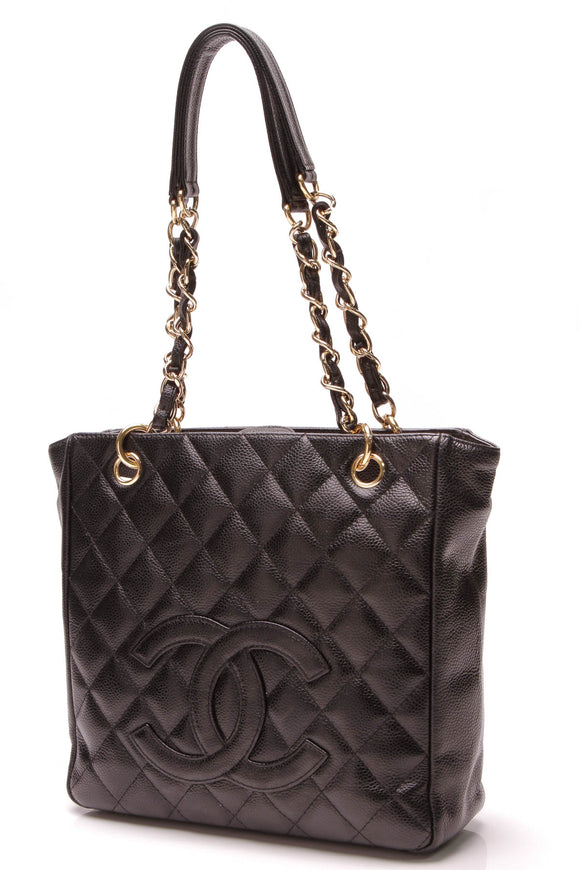 Chanel PST Petite Shopping Tote Bag Black Caviar