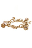David Yurman Citrine Diamond Pearl Charm Bracelet Yellow Gold