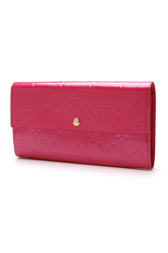 Louis Vuitton Vernis Sarah Wallet Rose Pop Pink