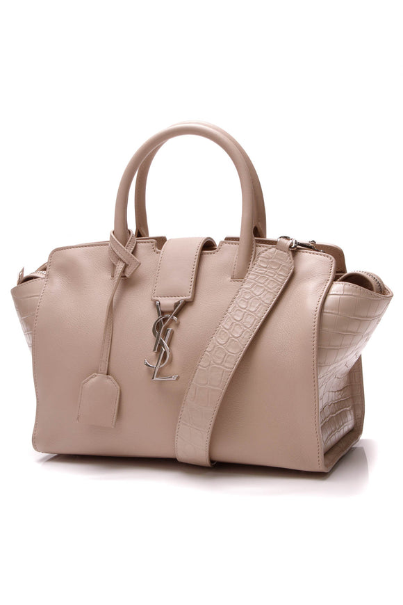 Yves Saint Laurent YSL Downtown Baby Cabas Bag Dark Beige