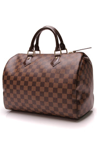 Louis Vuitton Speedy 30 Bag Damier Ebene Brown