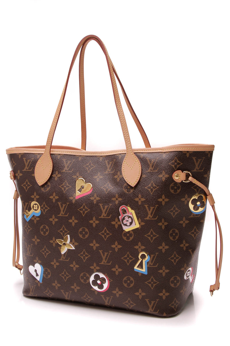 8b0d9c9b4ca Louis Vuitton Love Locks Neverfull MM Tote Bag - Monogram – Couture USA