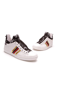 Gucci Ace Lace High Top Women's Sneakers White Size 38.5