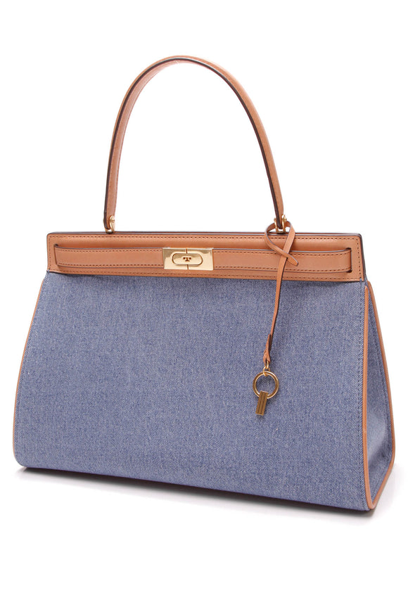 Tory Burch Lee Radziwill Bag Denim