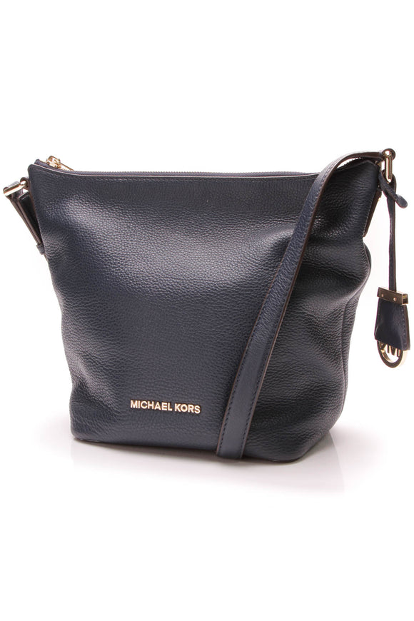 Michael Kors Bedford Medium Messenger Bag Navy Blue