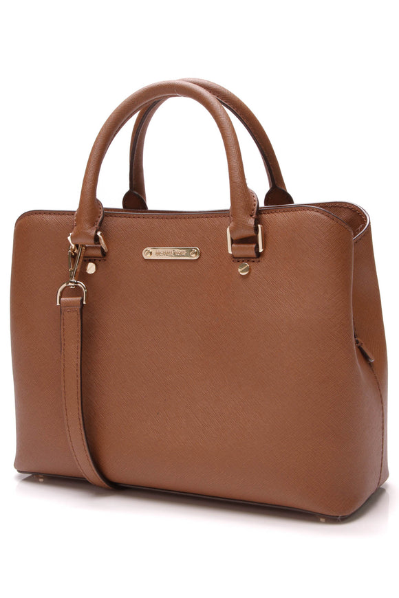 Michael Kors Savannah Medium Satchel Bag Acorn Brown