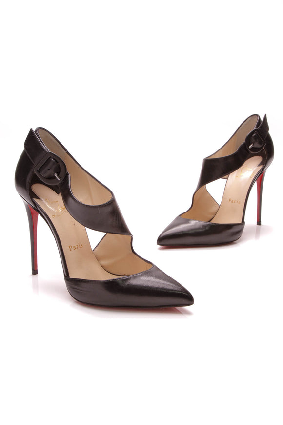 Christian Louboutin Sharpeta 100 Pumps Black Size 38.5