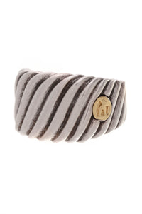 David Yurman Cigar Band Ring Silver Size 6