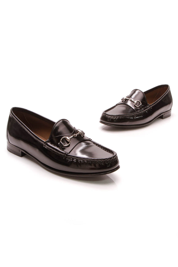 Gucci 1953 Horsebit Loafers Black Patent Size 39