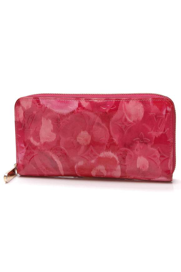 Louis Vuitton Vernis Ikat Zippy Wallet Indian Rose Pink