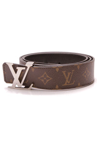 Louis Vuitton Reversible Initials Belt Monogram Size 44