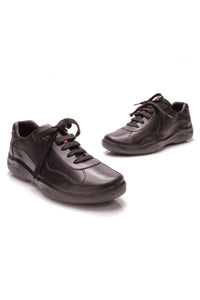 Prada Leather Men's Sneakers Black Size 12.5