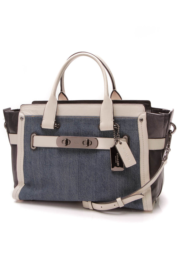 Coach Soft Swagger Carryall Bag Blue