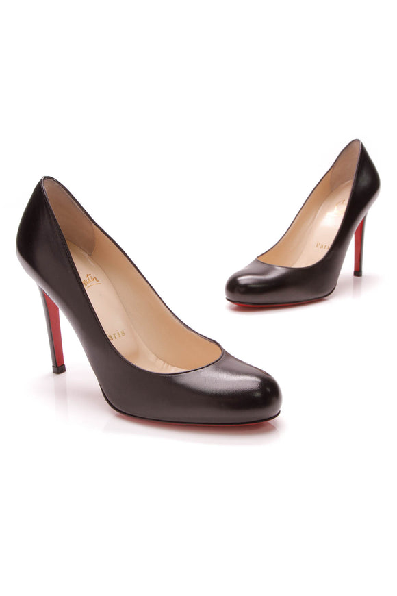Christian Louboutin Simple 100 Pumps Black Size 36.5