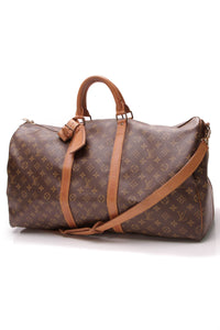 Louis Vuitton Vintage Keepall Bandouliere 55 Travel Bag Monogram Brown